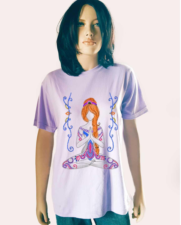 Fiction Peplum Dress Purple Ethinc Yoga Tshirt